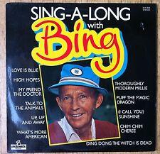 BING CROSBY Sing-A-Long with Bing LP/U.K.