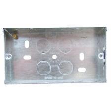 2 fori 25mm scarico singolo DA INCASSO ZINCATO METAL elettrico terminale in