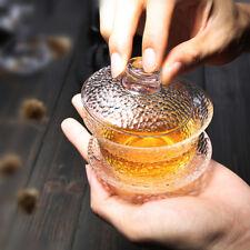 Japanese style glass teaware gaiwan tureen cup bowl kungfu tea set with saucer