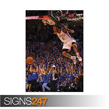RUSSELL WESTBROOK - OKLAHOMA CITY THUNDER BASKETBALL NBA (1110)  Poster Print