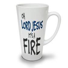 Signore Gesù è il fuoco NUOVO White Tea Tazza Da Caffè Latte Macchiato 12 17 OZ (ca. 481.93 g) | wellcoda