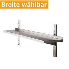 Edelstahl Wandregal Wandbord 1 Etage Tiefe 40 cm  Breite 80 - 200 cm - gastlando