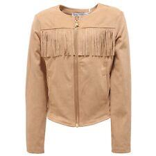 5565R giacca bimba PATRIZIA PEPE giubbotto suede beige jacket kid