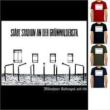 Grünwalder Stadion München, T-Shirt, Sechzger-Stadion, Fußball-Kult, S-XXL!