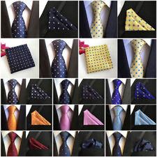 Men's Flower Polka Dots Necktie Pocket Square Lot Ties Handkerchief Set HZ205