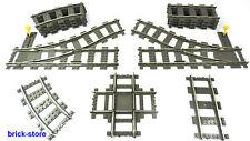 LEGO® Eisenbahn Auswahl 9v StromSchienen/Weiche/ Kreuz/Prellbock 4515/4519/4520