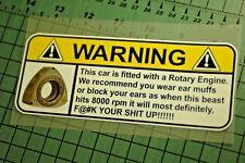 ROTARY ENGINE Sticker Decal Vinyl JDM Euro Drift Lowered illest Fatlace Supreme