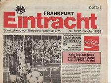 BL 83/84 Eintracht Frankfurt - Borussia Mönchengladbach