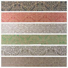 "Indian Ornate Ornamental Pure Silk Banarsi brocade fabric 44"" M789 Mtex"