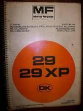 Massey Ferguson MF29/29XP : catalogue de pièces 1988