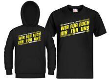 T-Shirt / Kapuzensweat Dortmund wir für euch Ultras  Hoodie, Kapu Trikot Fan