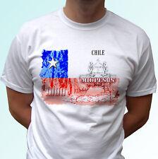 Chile flag peso design white t shirt top tee - mens womens kids baby sizes