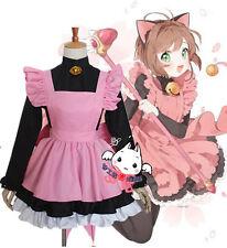 CARD CAPTOR SAKURA Black Cat Maid Servant Dress Outfit Cosplay Costume