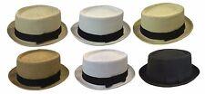 100% Paper Polyester Round Top Porkpie Derby Trilby Bowler Bucket Fedora Hat Cap