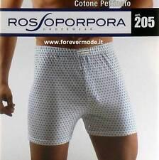 6 Boxer hombre Rossoporpora algodón cardado corbata con abertura botón art 205