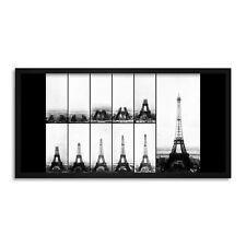 Parigi Torre Eiffel costruzione Lungo Pannello Incorniciato Wall Art Print