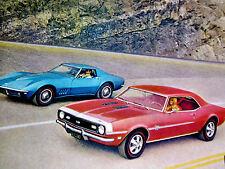 1968 CHEVY CORVETTE/CAMARO SS/RS/Z28 PRINT AD-poster/sign-327/396/427 V8 engine