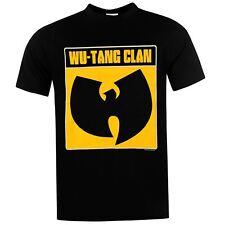Wu Tang Clan Logo Official Band T-Shirt Mens Black Music Top Tee T Shirt