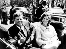 JFK John Jacqueline Kennedy President Car 1961 Rare Giant Print POSTER Affiche