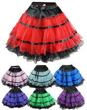 Red,Purple,Pink Color Burlesque Tutu Ballet Petticoat Dance Skirt -Plus,Reg