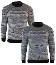 Pull laine tricot look italien habillé décontracté coupe ajustée homme