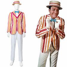 Mary Poppins and Bert 1964 Flim Herbert Alfred Dick Van Dyke Cosplay Costume NN