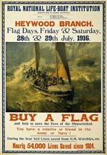 84711 Vintage LifeBoat Buy A Flag British Fund Raising WALL PRINT POSTER CA