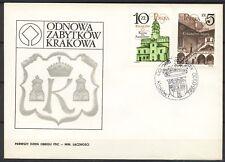 POLAND 1986 FDC SC#2717/18 CRACOV RESTORATION (IV)
