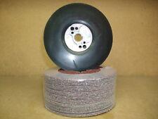 SMERIGLIATRICE A DISCO 115 mm platorello e 25 x rosso ossido di dischi in fibra ABRASIVI 36 GRANA