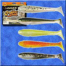Fishing Soft Lures Bait Shad 12cm 5' 12g Kopyto Jig Head Ripper Sea Tackle Pike