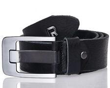 Redbridge Uomo Cintura in pelle 100% vero cuoio Premium Belt nero -1 MOD2