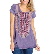 NEW Indigo Thread Co Knit & Woven Flounce Hem Lace Detailed Top XS-1X