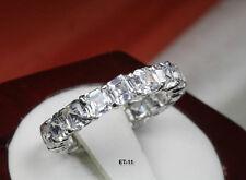 6.63 CTW CZ ETERNITY ASSCHER CUT ENGAGEMENT RING WEDDING RING~17 STNS~ET11~MX-T