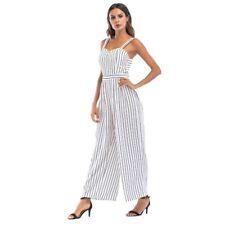 Elegante tuta intera completo donna pantaloni lunghi canotta bianco nero  4818 a69a8dce8a2