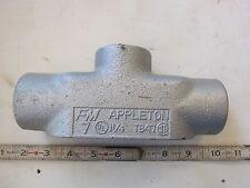 "Appleton TB47 1¼"" 1.25"" TB Condulet Conduit Body wo Cover, New"