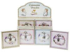 Primera Comunión Pulsera Regalo con encanto de ángel en caja de regalo 4 Variedades BNIB