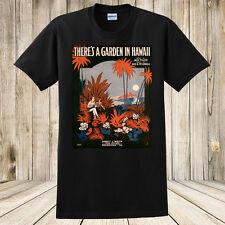 Brand New There's a Garden In Hawaii 1917 Tropical Sheet Music T-Shirt Custom