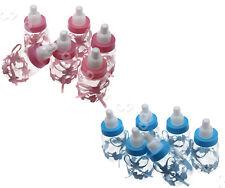 24x BLAU/PINK Milchflasche Babyflasche Geburt Gastgeschenk Taufe Party Tischdeko