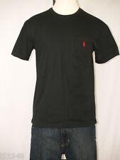 Polo Ralph Lauren Black Pocket T-shirt Polo Pony 100% Cotton  S M XL NWT