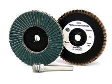 Mini-Fächerscheibe D 50mm Zirkon , Korn 40 - 120 , Minifächerscheibe