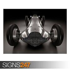 MERCEDES BENZ W154 (AA905) CLASSIC CAR POSTER - Poster Print Art A0 A1 A2 A3