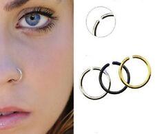 Un piercing nez sans perçage (faux piercing nez fake nose) 4 tailles 3 couleurs