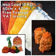 100 x Net Woven Sacks Logs Kindling Wood Log Vegetables Mesh Bags 60x42 cm 15 kg
