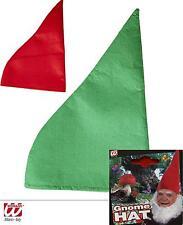 Duende Enano Gorro de enano rojo, verde adultos 9506