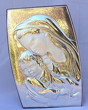 Madonna con bambino Icona argento 925/1000 quadro religioso