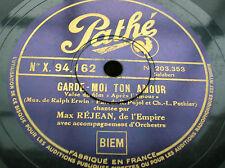 78 trs-rpm- MAX REJEAN - Garde moi ton amour/ JEAN PLANEL-chanson de mon coeur -