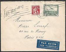 Belgium covers 1933 OBP Airmail3 Airmailcover to Paris