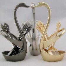 Swan Spoon Holder Table Tableware Coffee Spoons Fruit Forks Cutlery Decor
