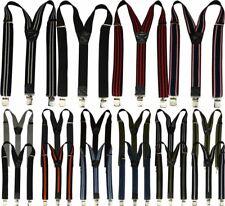 Bretelles Femmes Hommes avec 3 pinces solides 40mm de largeur dans 16 couleurs