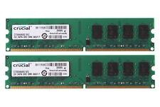 2X 2 GB Tested Crucial 2Rx8 PC2-6400 DDR2-800Mhz RAM Desktop Memory DIMM #3493